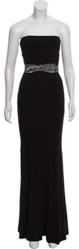 Michael Kors Strapless Maxi Dress Black Strapless Maxi Dress