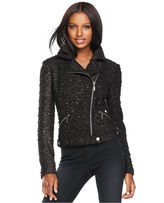 Jacket, Metallic Boucle Tweed Moto