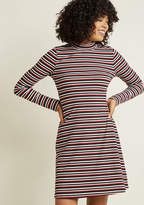 Led to Achieve Long Sleeve Knit Dress in XL - A-line Knee Length by ModCloth