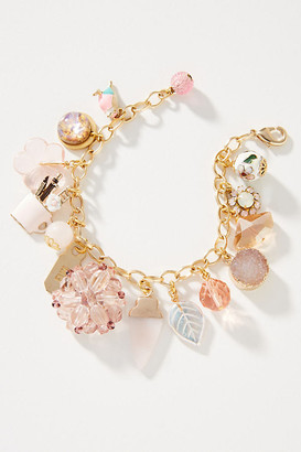 John Wind Girlie Girl Charm Bracelet By John Wind in Pink Size ALL