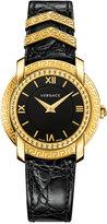 Versace Women's Swiss DV25 Black Leather Strap Watch 36mm VAM03 0016