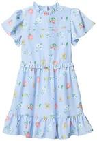 Janie and Jack Floral Print Dress (Little Kids/Big Kids) (Multi) Girl's Clothing