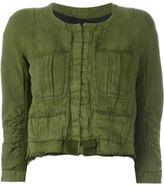 Haider Ackermann pocketed raw edge cropped jacket
