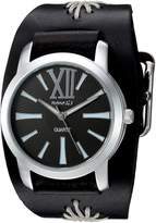 Nemesis Women's BF065KW Roman Series Analog Display Japanese Quartz Black Watch