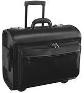 Royce Leather Executive Rolling Laptop Briefcase Bag with GPS Tracking Technology
