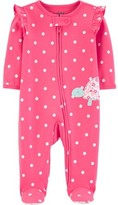 Carter's Child Of Mine By Child of Mine by Baby Girl Zip-Up Sleep 'N Play Pajamas