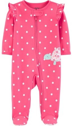 Carter's Child of Mine by Baby Girl Zip-Up Sleep 'N Play Pajamas