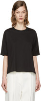 3.1 Phillip Lim Black Silk Combo T-Shirt