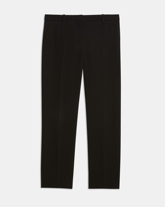 Theory Slim Cropped Pant in Crepe