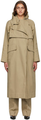 Markoo Beige The Flap Over Trench Trench Coat
