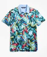 Brooks Brothers Slim Fit Bold Tropical Print Polo Shirt