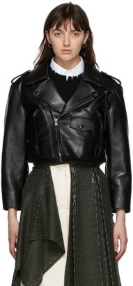 Maison Margiela Black Leather Crop Jacket