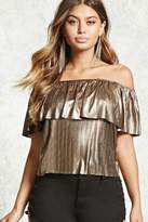 Forever 21 Metallic Off-the-Shoulder Top
