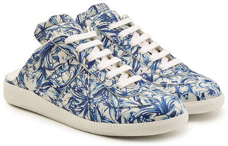 Maison Margiela Printed Leather Trainers