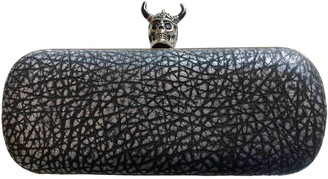 Alexander McQueen Knuckle Metallic Leather Clutch bags