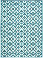 Nourison Waverly Sun & Shade Centro Azure Indoor/Outdoor Rug