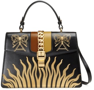 Gucci Sylve Symbol Medium Top Handle Bag