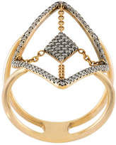 Diane Kordas floating diamond ring
