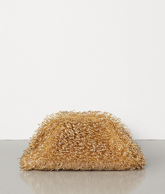 Bottega Veneta The Sponge Pouch In Metallic Lamb