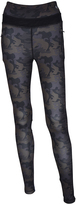 Therapy Gray & Brown Camo Zip-Pocket Performance Leggings - Plus Too