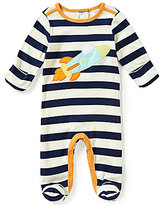 Starting Out Baby Boys Newborn-6 Months Rocket-Appliqued Striped Coverall