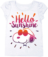 Freeze Snoopy White 'Hello Sunshine' Cap-Sleeve Tee - Toddler