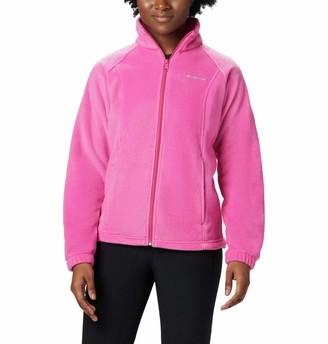 Columbia Women's SizeTested Fz Plus Size Tested Tough in Pink Benton Springs Full Zip Jacket