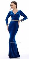 Nika Velvet Detailed Evening Dress
