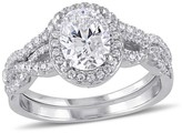 Allura 2.87 CT. T.W. Cubic Zirconia Bridal Set in Sterling Silver