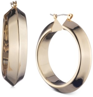 "DKNY Gold-Tone Medium Thick Hoop Earrings, 1.57"""