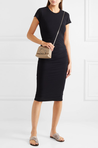James Perse Classic Ruched Stretch-cotton Jersey Dress