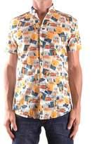 Daniele Alessandrini Men's Multicolor Cotton Shirt.