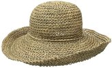 Scala Women's Crocheted Seagrass Hat with Self Trim