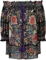 Roberto Cavalli floral print off-shoulder blouse