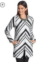 Chico's Abstract Chevron Topper Jacket
