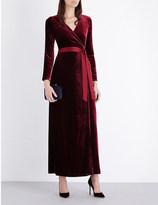 Diane von Furstenberg Julian velvet maxi dress
