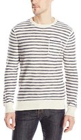 Calvin Klein Jeans Men's Mini Stripe Pocket Crewneck Sweater