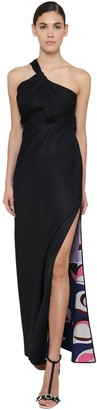 Emilio Pucci One Shoulder Draped Jersey Dress