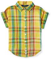 Ralph Lauren Girls 2-6x Plaid Shirt