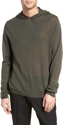 Vince Regular Fit Wool Pullover Hoodie