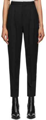 Saint Laurent Black Classic Pleated Trousers