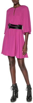 Cue Fuchsia Blouson Sleeve Dress