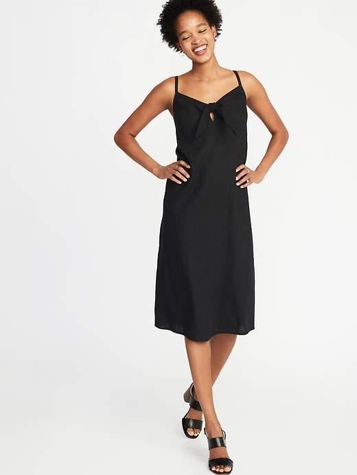 900d90f9871 Petite Navy Linen Dress - ShopStyle