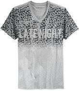 GUESS Men's Late Night Ombré Graphic-Print V-Neck T-Shirt