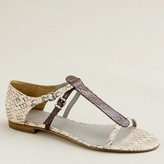 Iris snakeskin sandals