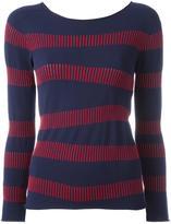 Armani Collezioni striped blouse - women - Viscose/Polyester - 42