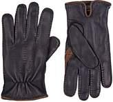 Barneys New York Men's Navy Deerskin Gloves
