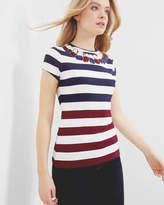 Ted Baker Rowing Stripe T-shirt Navy