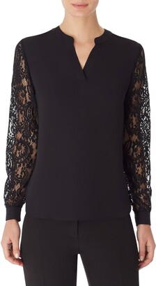 Anne Klein Lace Sleeve Blouse