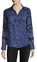 Raga Printed Cotton Button-Down Shirt